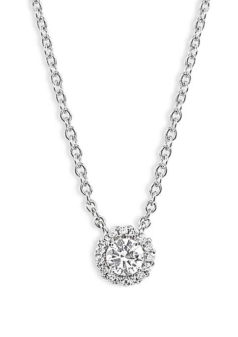 Belk Silverworks Round Cubic Zirconia Necklace