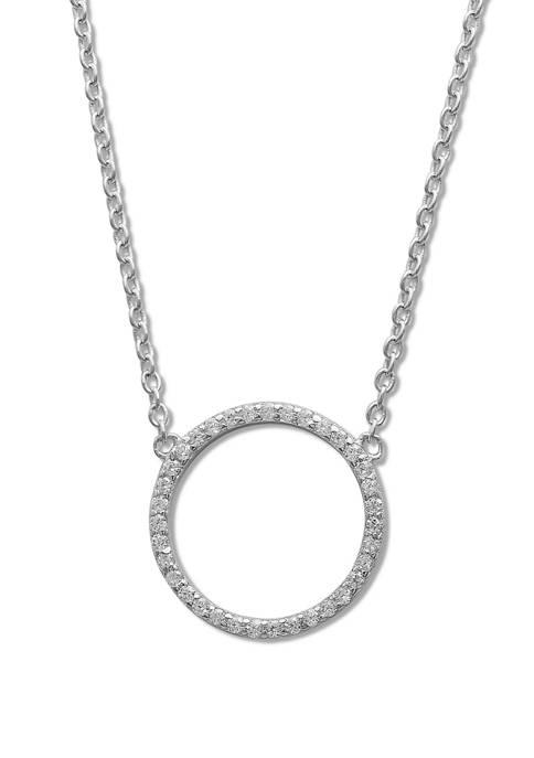 1/5 ct. t.w. Cubic Zirconia Circle Pendant Necklace