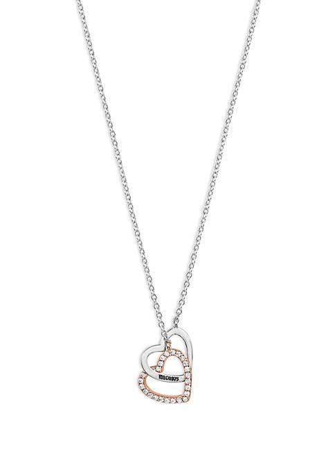 2-Tone Interlocking Heart Necklace