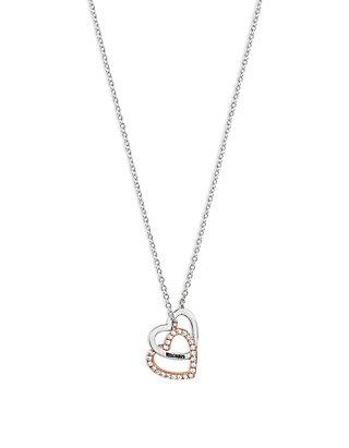 34f3680956 Belk Silverworks. Belk Silverworks 2-Tone Interlocking Heart Necklace