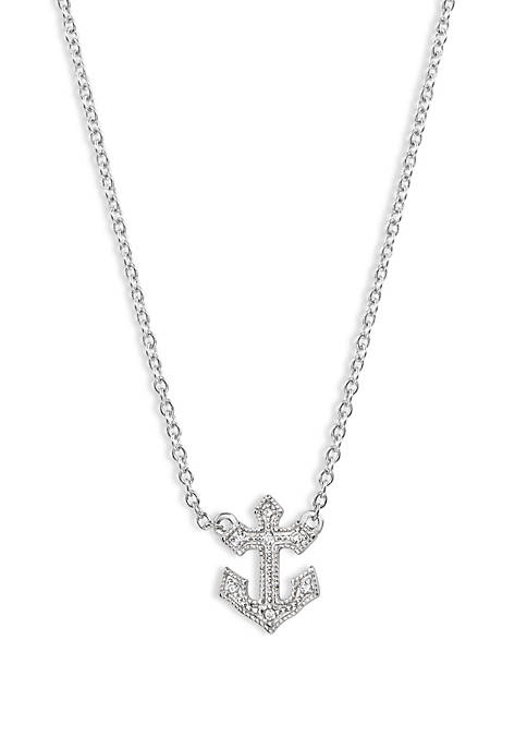 Beaded Anchor Necklace