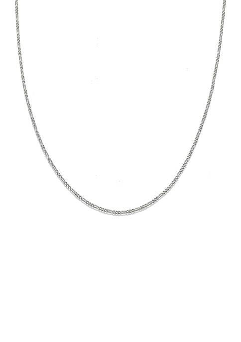 Belk Silverworks 035 Gauge Figro Chain Necklace