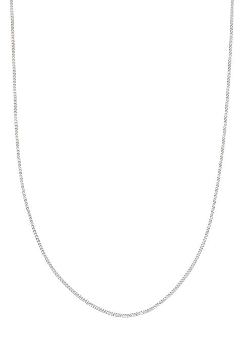 18 Inch Curb Chain Necklace