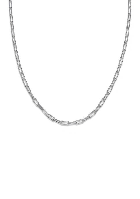 Belk Silverworks 060 Gauge Oval Link Chain Necklace
