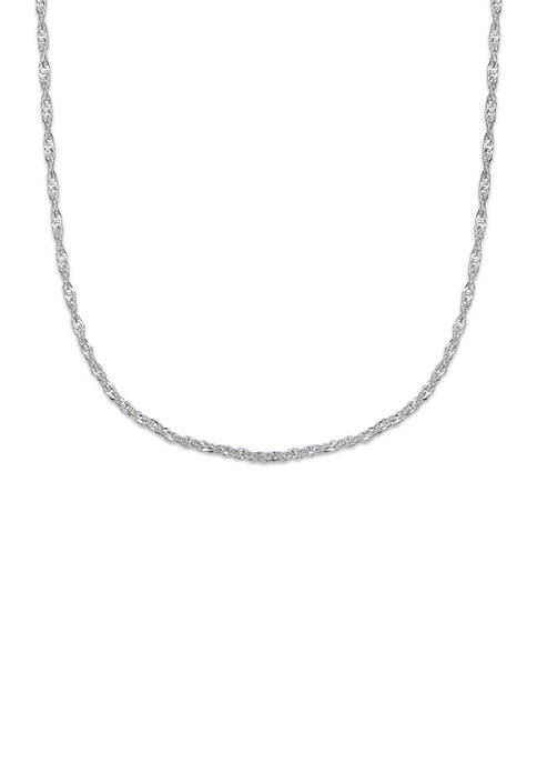 Belk Silverworks 020 Gauge Singapore Chain Necklace