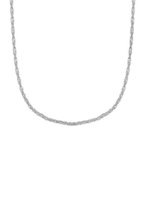 Belk Silverworks 18 Inch Sterling Silver Chain Necklace