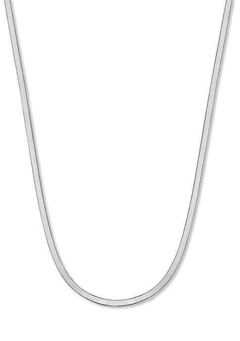 Herringbone Chain 18 Inch Necklace