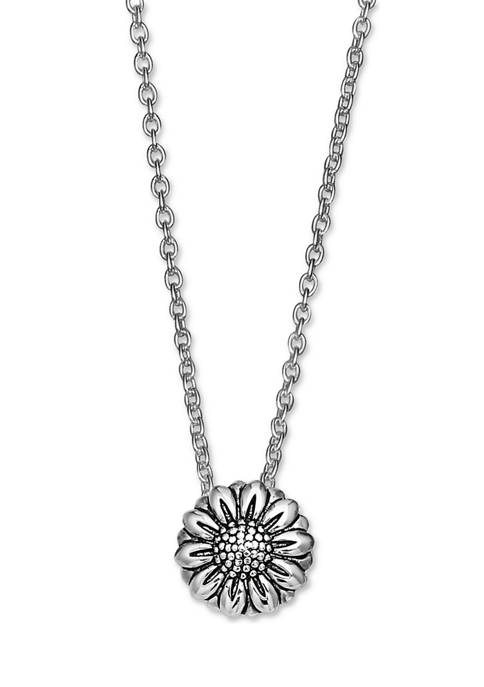 Oxidized Sunflower Necklace