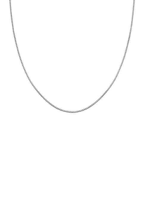 Belk Silverworks Silver-Tone Box Chain Necklace