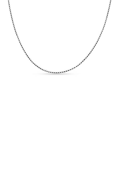 Belk Silverworks Sterling Silver Box Chain Necklace