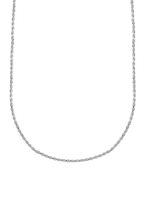 Belk Silverworks Diamond Cut Rope Chain Necklace