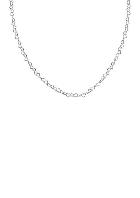 Belk Silverworks Silver-Tone Heart Link Necklace