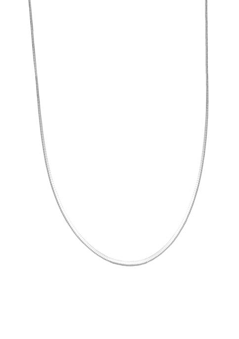 Square Snake Chain Necklace