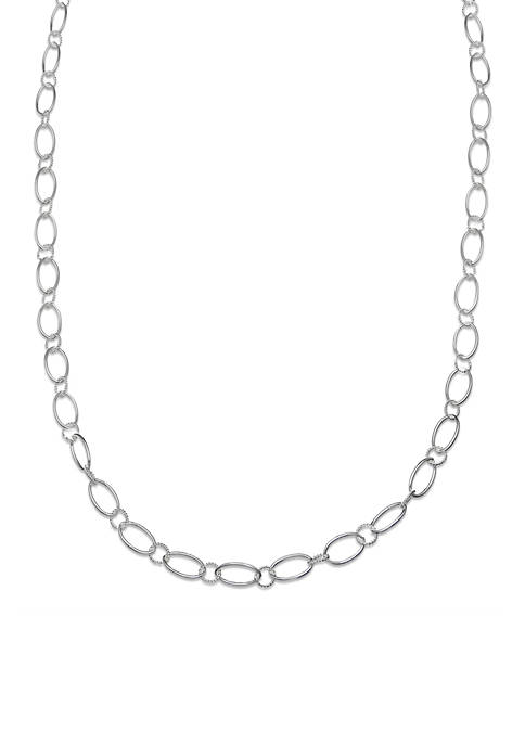 Belk Silverworks Fine Silver Plated Long Oval Textured