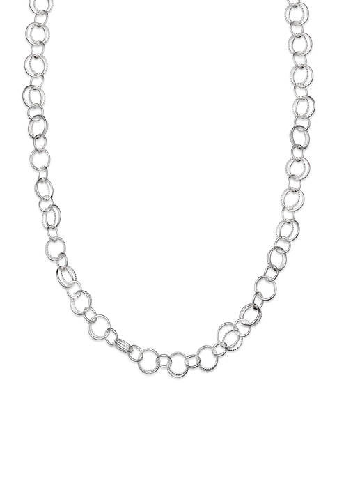 Belk Silverworks Fine Silver Plated Interlocking Link Chain