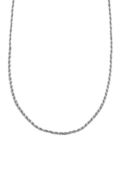 Belk Silverworks Fine Silver Plated Rope Chain Necklace