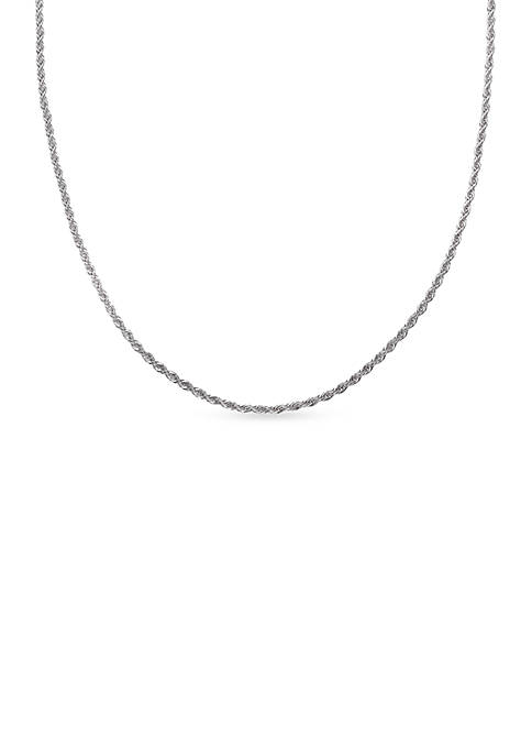 IBB Fine Silver-Plated Chain Necklace