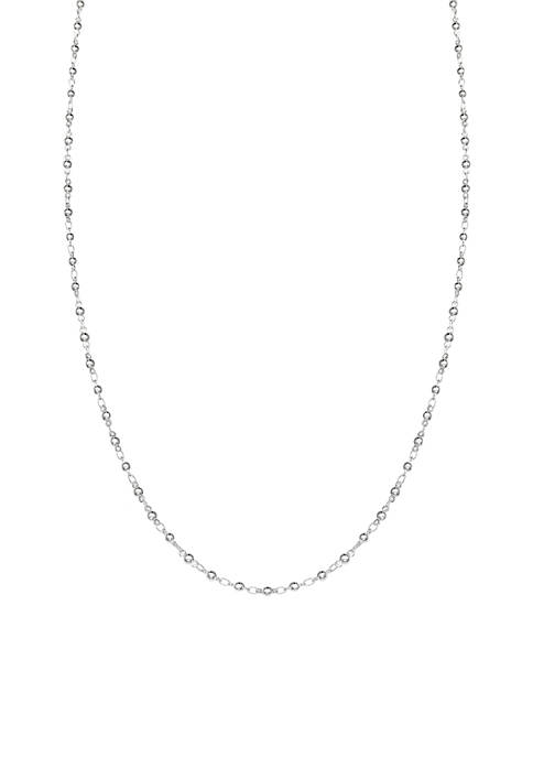Belk Silverworks Silver Plated Polished Bead Link Chain