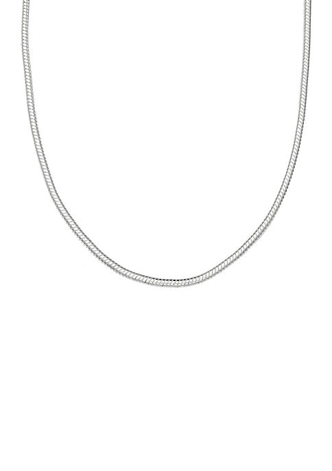 Belk Silverworks Silver Plated Snake Chain Necklace