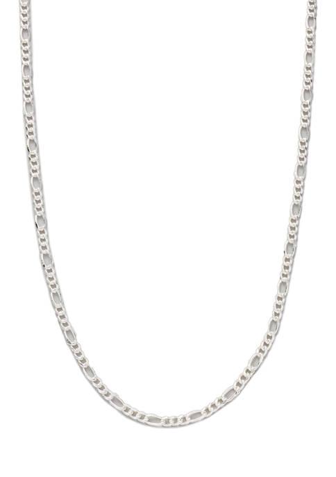 Belk Silverworks 18 Inch Silver Tone Figaro Chain