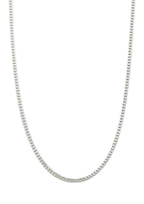 Belk Silverworks 80 Gauge Curb Chain Necklace