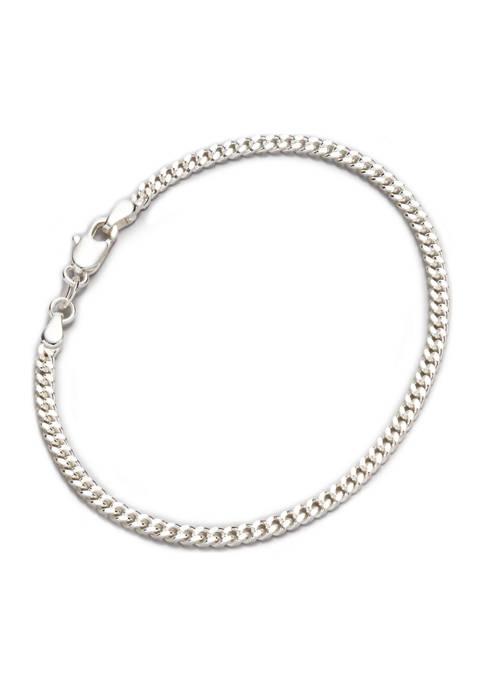 7.5 Inch Silver Chain Bracelet