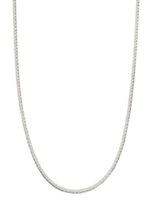 Belk Silverworks 16 Inch Silver Tone Diamond Cut