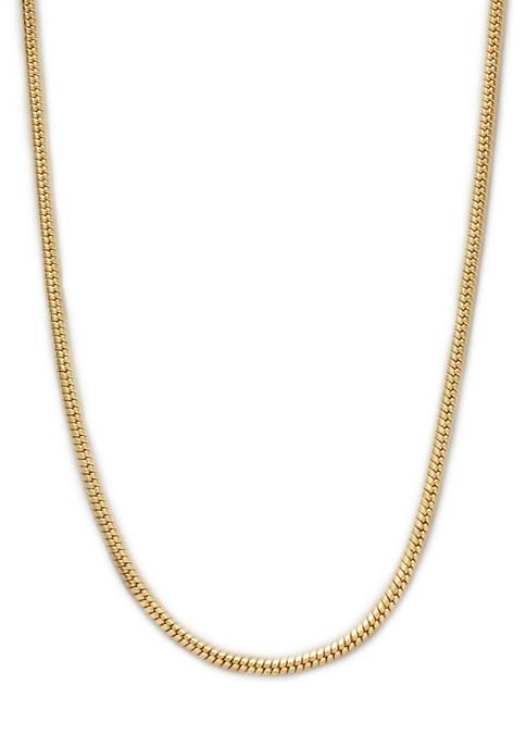 Belk Silverworks 20 Inch Gold Tone Snake Chain