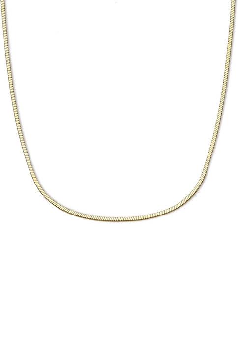 18 Inch Gold Tone Square Chain Necklace