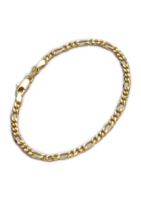 Belk Silverworks Gold-Tone Figaro Chain Bracelet