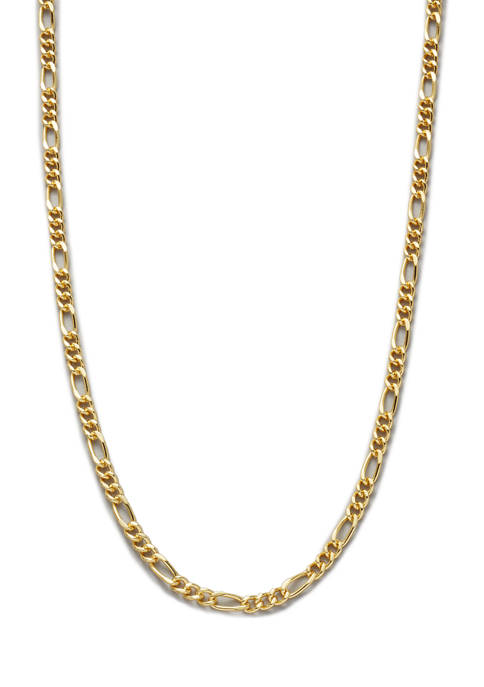 Belk Silverworks 20 Inch Gold Tone Figaro Chain