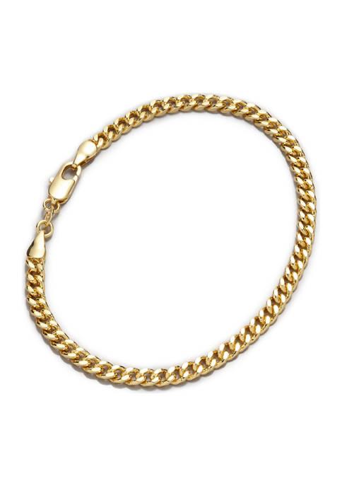 Belk Silverworks Gold-Tone Curb Chain Bracelet