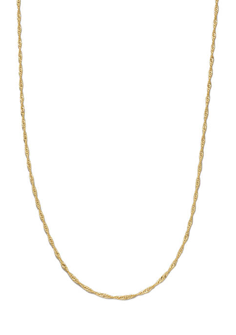 Belk Silverworks 16 Inch Gold Tone Chain Necklace