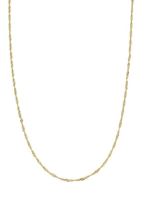 30 Gauge Gold-Tone Necklace