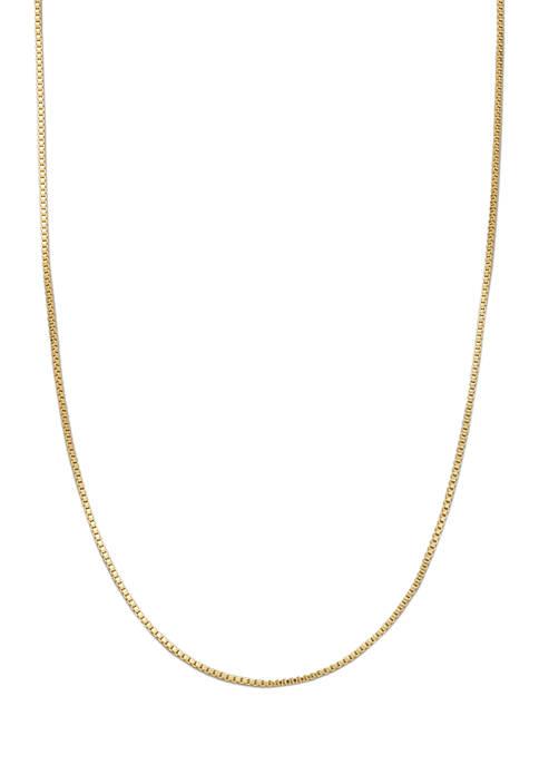 Belk Silverworks 20 Inch Gold Tone Box Chain