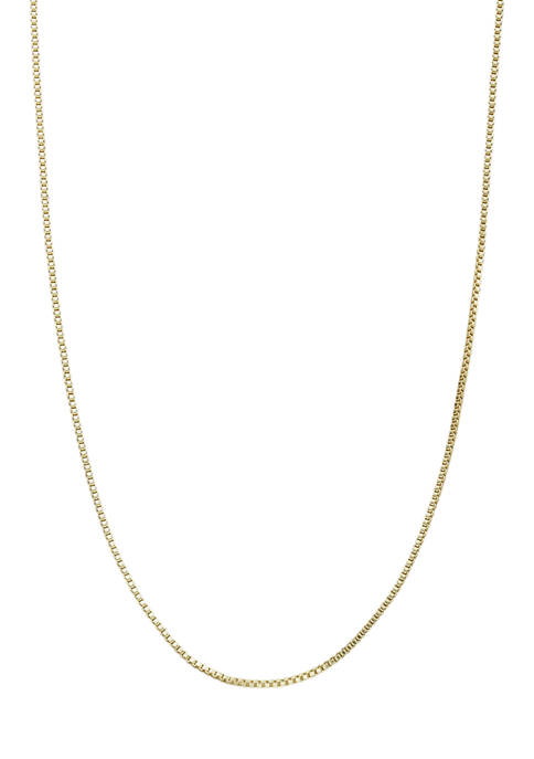 24 Inch Box Chain Necklace