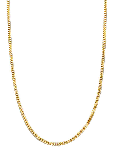 20 Inch Gold Tone Curb Chain Necklace