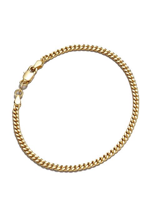 Belk Silverworks 7.5 inch Curb Chain Bracelet
