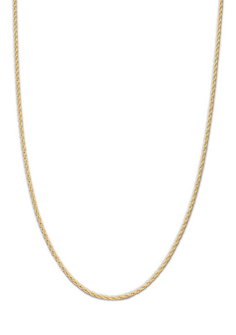 Belk Silverworks 16 Inch Gold Tone Diamond Cut
