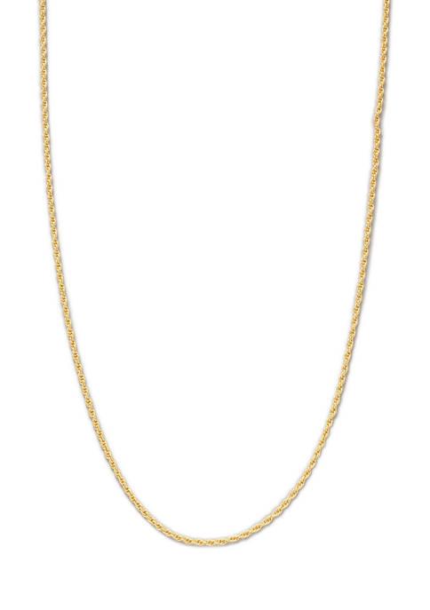Belk Silverworks 24 Inch Gold Tone Diamond Cut