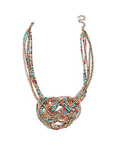 Jules B Gold-Tone Nantucket Pretzel Statement Necklace