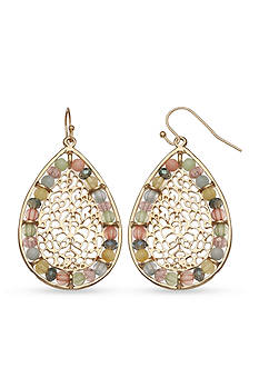 Jules B Gold-Tone Powder Room Teardrop Earrings
