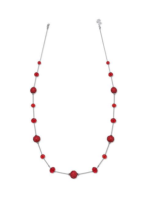 Fireball Long Illusion Necklace