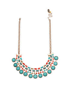 Jules B Gold-Tone Nantucket Turquoise Statement Necklace