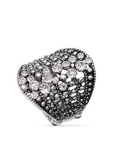 Jules B Silver-Tone Crystal Cluster Stretch Ring