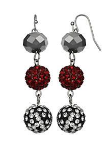 Triple Drop Ball Earrings