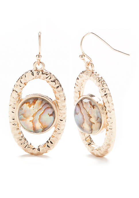 Jules B Oval Mother of Pearl Earrings
