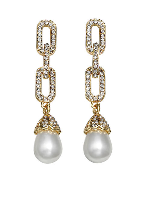 Jules B Gold-Tone Pearls of Wisdom Chain Link