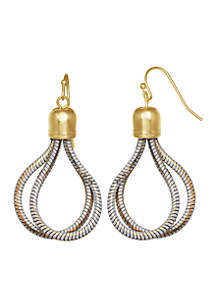Gold-Tone Color Shine Chain Earrings