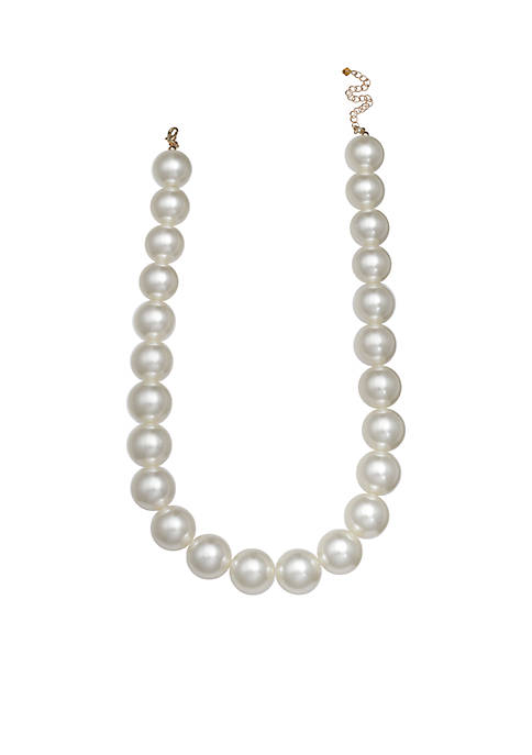 Jules B Gold-Tone Pearls of Wisdom Large Pearl